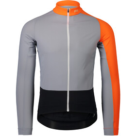 POC Essential Road Mid LS Trikot Herren granite grey/zink orange